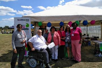 Colin Pill and Healthwatch Slough team