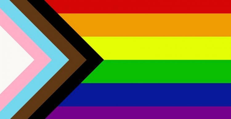 LGBT pride flag inclusive new design