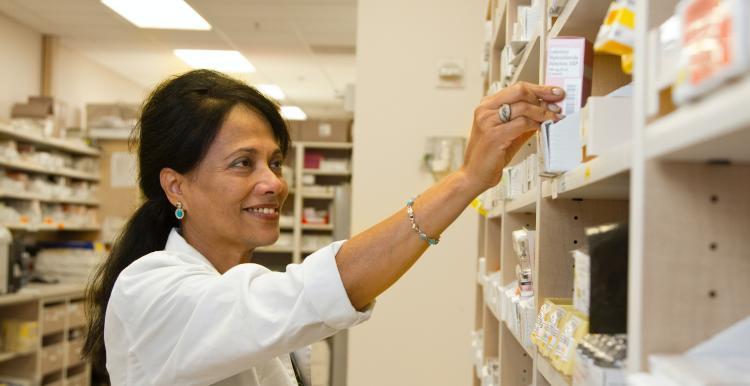 pharmacist at a pharmacy