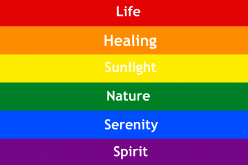 representation rainbow pride flag