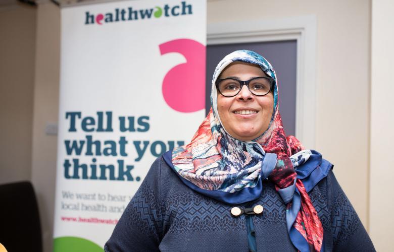 Muslim lady smiling