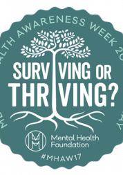 Surviving or Thriving Logo from Mental Health Awareness Week in 2017